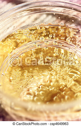 Golden sparkling drink - csp4649963