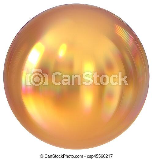 Golden sphere round button ball basic circle geometric shape - csp45560217
