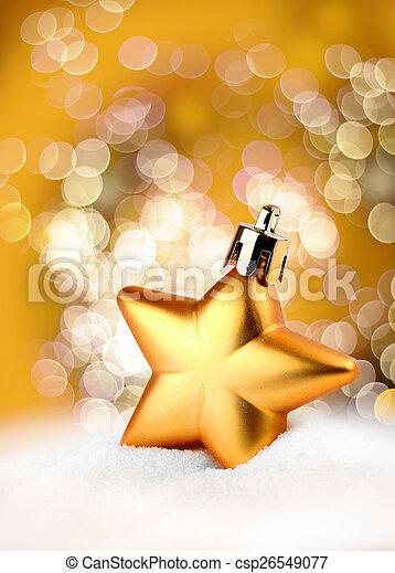 Golden star bokeh light effect - csp26549077