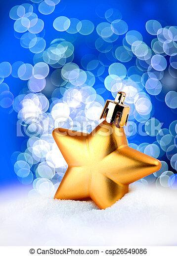 Golden star bokeh light effect - csp26549086