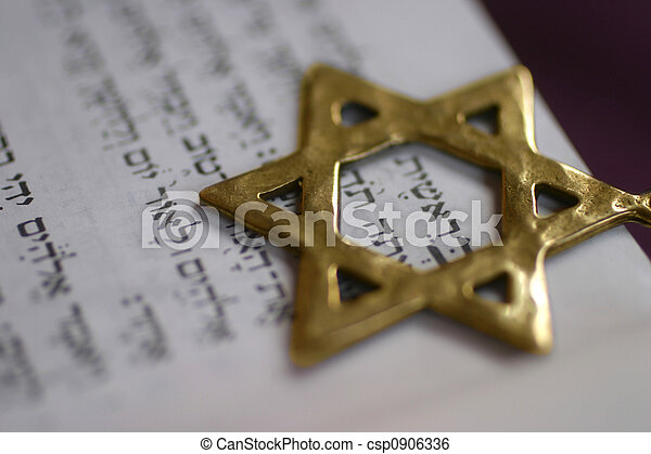 Golden Star of David - csp0906336
