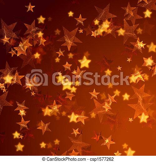 golden stars background - csp1577262