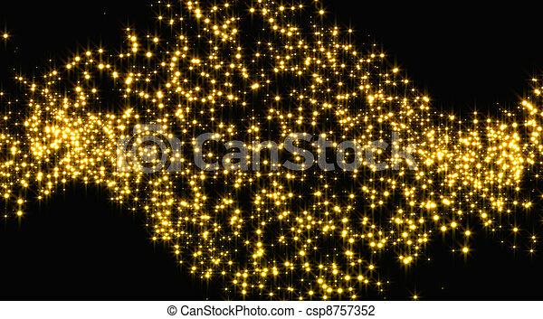 Golden stars background - csp8757352