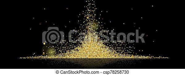 golden stars background - csp78258730