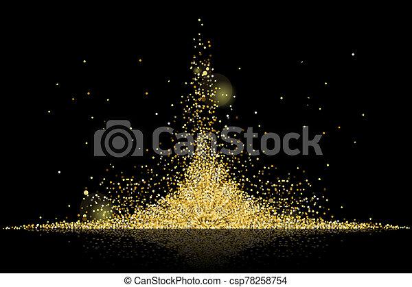 golden stars background - csp78258754