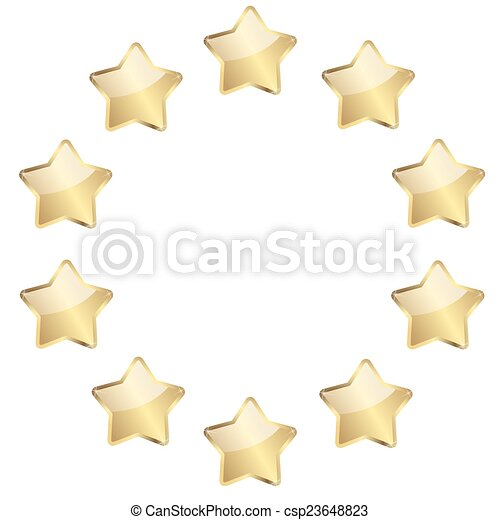 golden stars in a circle - csp23648823