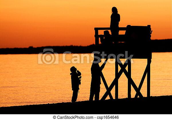 Golden Sunset on a Cape Cod Beach - csp1654646