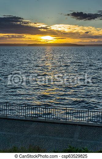 Golden Sunset Scene 3 - csp63529825