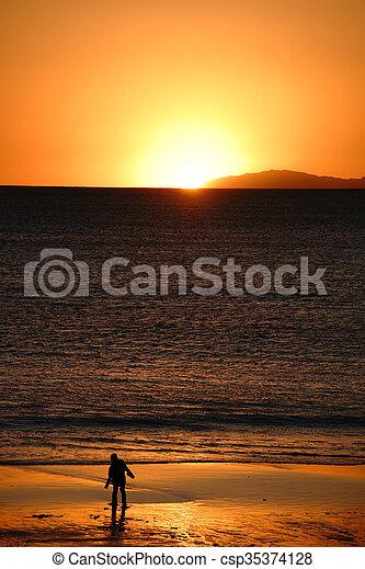Golden sunset - csp35374128