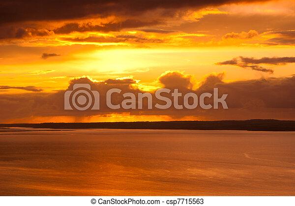 Golden Sunset - csp7715563