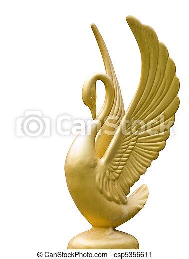 Golden swan statue - csp5356611