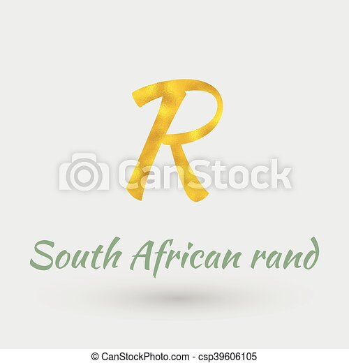 Golden Symbol Of South Africa Rand Symbol Of The South African Rand