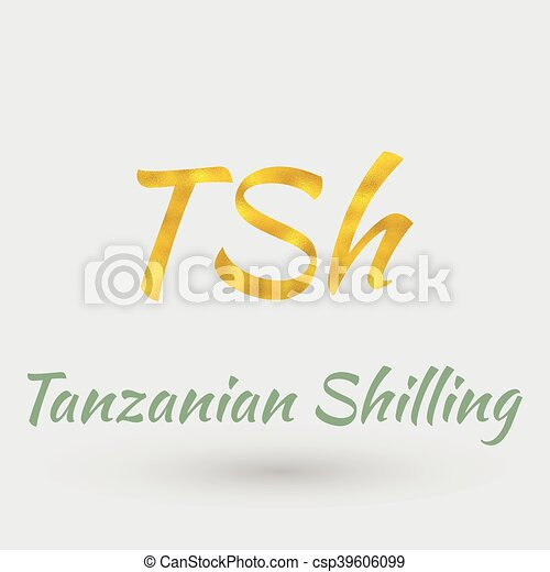 Golden Symbol Of Tanzanian Shilling Symbol Of The Tanzanian