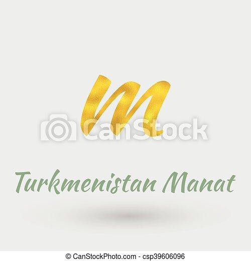 Golden Symbol Of Turkmenistan Manat Symbol Of The Turkmenistan