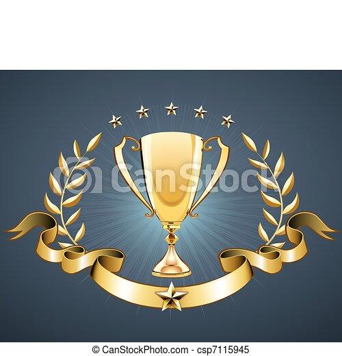 golden trophy  - csp7115945