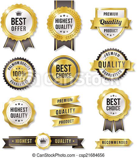 Golden Vector Commercial Labels - csp21684656