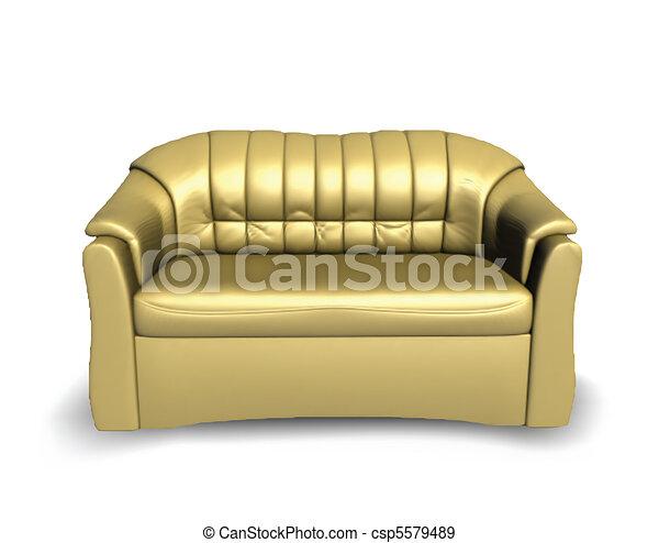 Golden Vector Sofa   Csp5579489