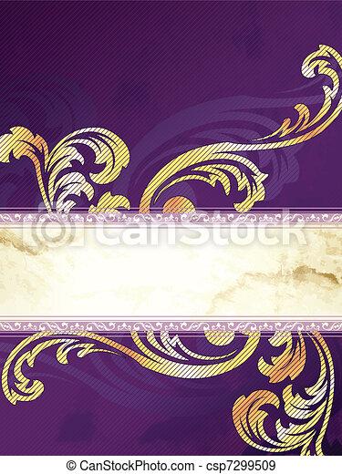 Golden Victorian vintage banner - csp7299509