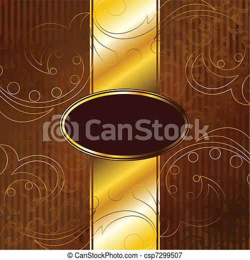 Golden Victorian vintage banner - csp7299507
