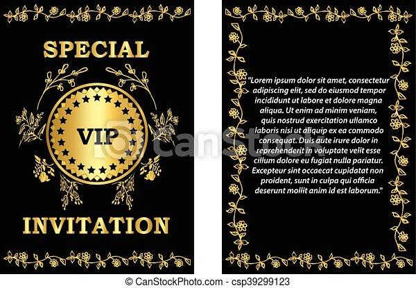 Golden Vip Invitation Template