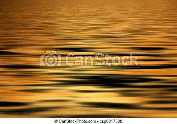 Golden water Background - csp0817508