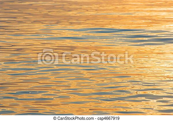 Golden water - csp4667919