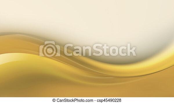 Golden Wave Clip Art