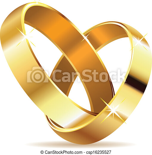 Golden wedding rings - csp16235527