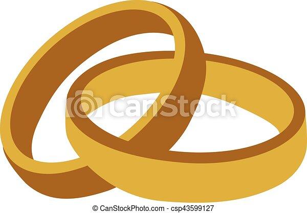 Golden wedding rings - csp43599127