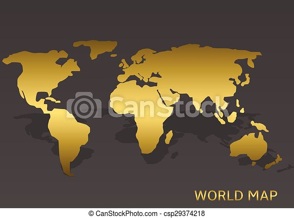Abstract golden world map on the grey background vector illustration golden world map csp29374218 gumiabroncs Gallery