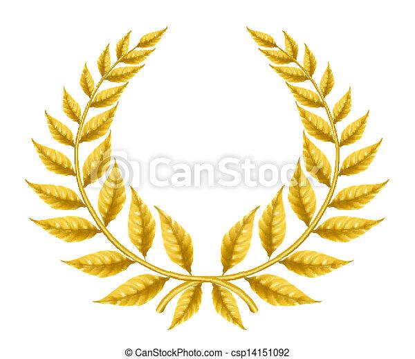 Golden wreath, eps10 - csp14151092