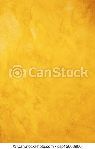 Golden Yellow Painted Background Texture - csp15608906