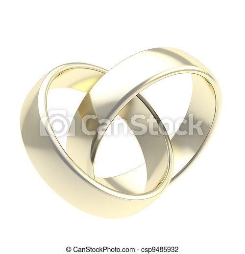Goldene Hochzeit Ringe Zwei Freigestellt Goldenes Ringe Zwei