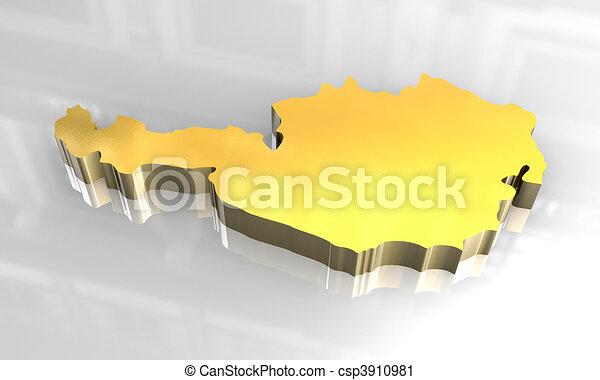 3d Karte Osterreich.Goldenes Osterreich 3d Landkarte