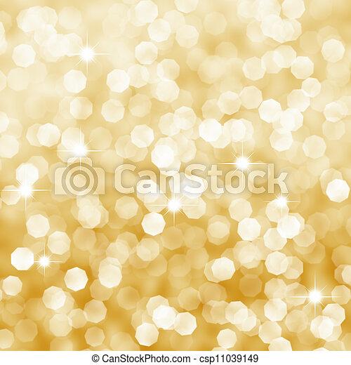goldenes, abstrakt, hintergrund - csp11039149