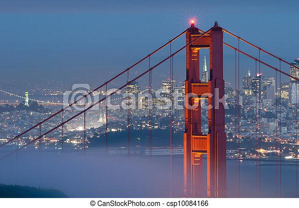 goldenes, bridge., tor - csp10084166