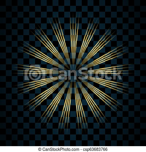 goldenes, explosion., glanz, gold, bersten, effect., hell, design., hintergrund., blitz, freigestellt, funkeln, glühen, glitzer, abbildung, durchsichtig, glühen, scheinen, magisches, stern, flare., vektor, licht, glänzend - csp63683766