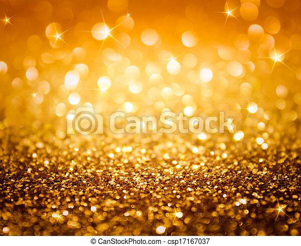 goldenes, glitzer, sternen - csp17167037