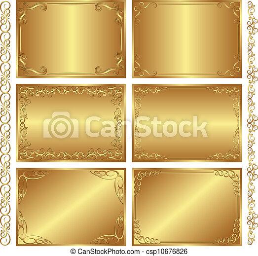 goldenes, hintergruende - csp10676826