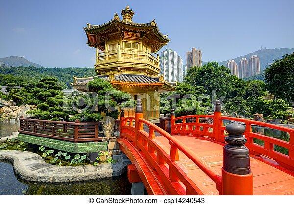 Golden Pavillon in Hong Kong - csp14240543