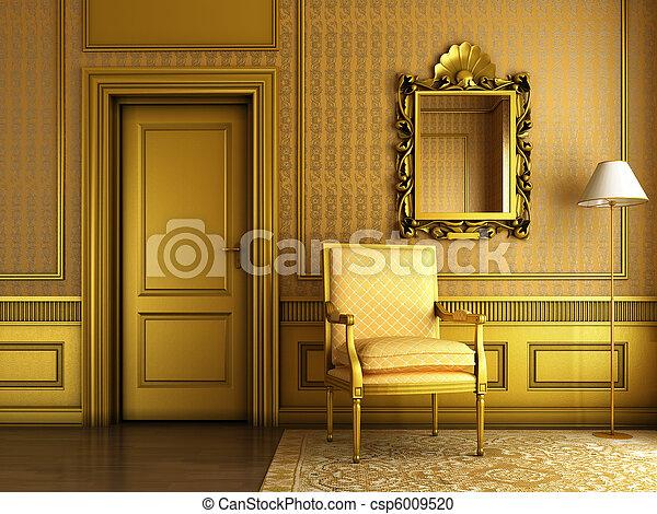 Sessel Klassisch goldenes palast wandstuck sessel klassisch spiegel