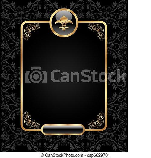 Königlicher Hintergrund mit goldenem Rahmen - csp6629701