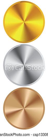 Goldene Silber Bronze - csp13308684