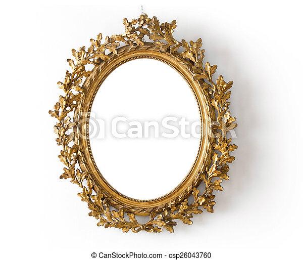 goldenes, spiegel - csp26043760