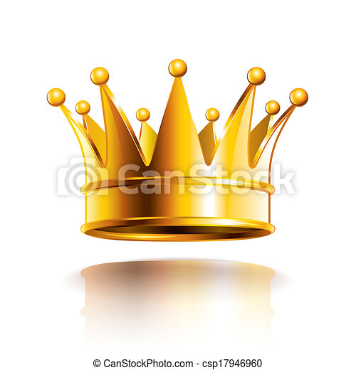 Glänzende goldene Kronen-Vektorgrafik - csp17946960
