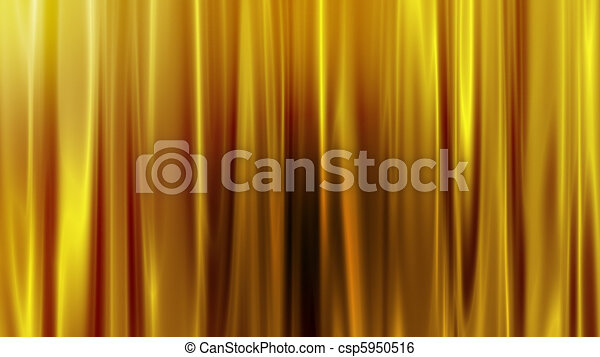 goldenes, vorhang - csp5950516