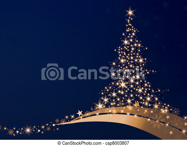 goldenes, weihnachten - csp8003807