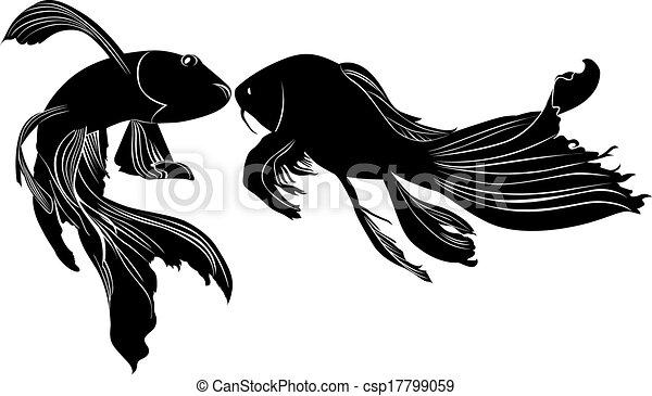 Goldfish line drawing - photo#55