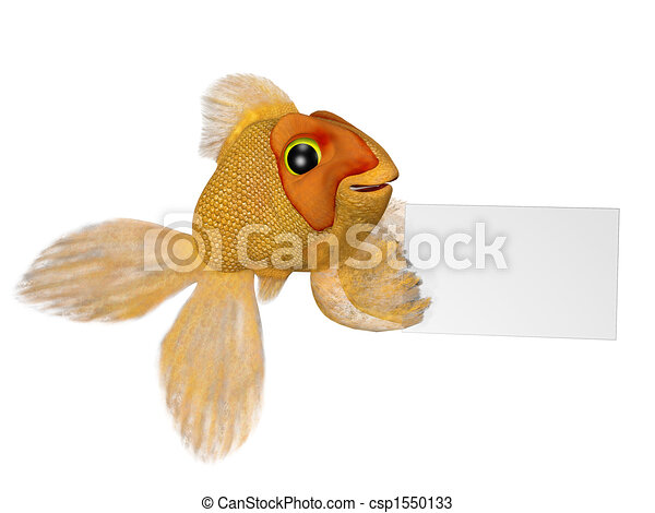 Goldfish with a sign - csp1550133