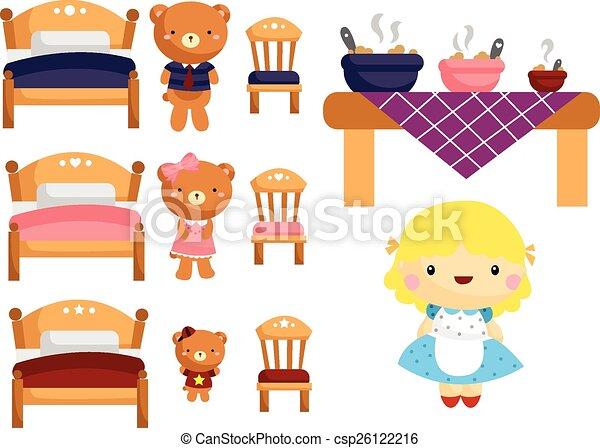 goldilocks and the three bears vector clip art search illustration rh canstockphoto com Goldilocks and the Three Bears Clip Art Black and White goldilocks and the three bears clipart black and white